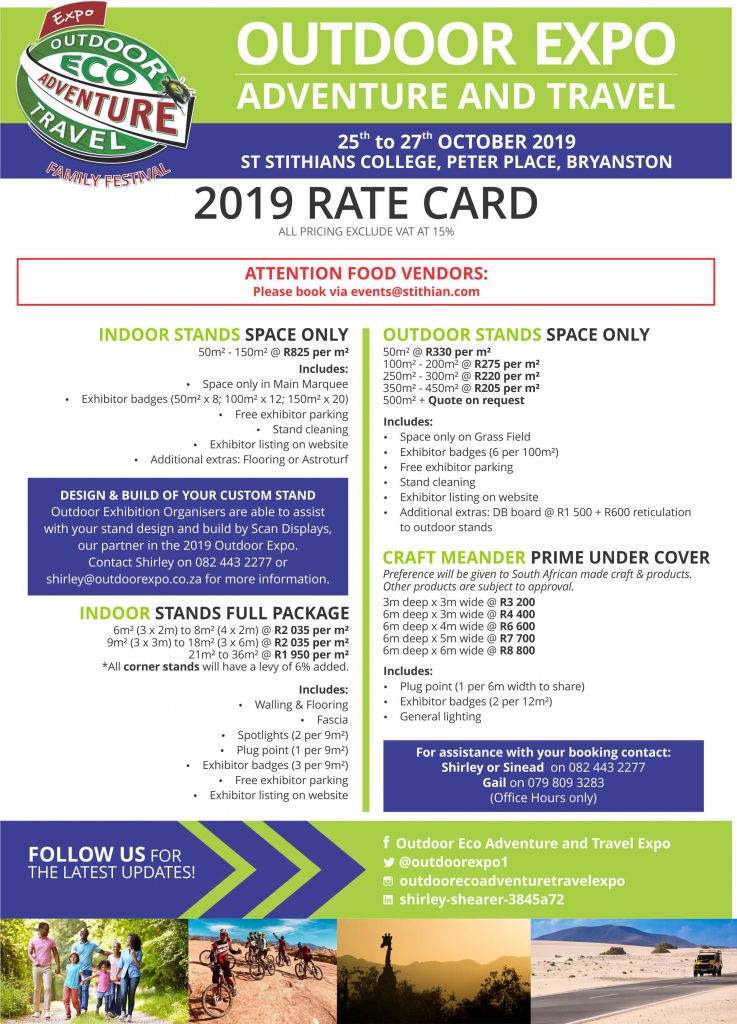 Outdoor Expo 2019 Rate Card